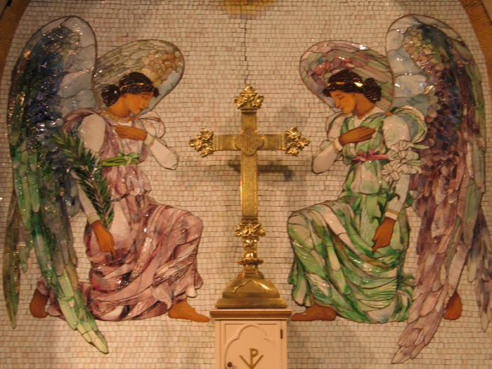 """Adoring Angels,"" Emmanuel Episcopal Church, 1898 (detail)"
