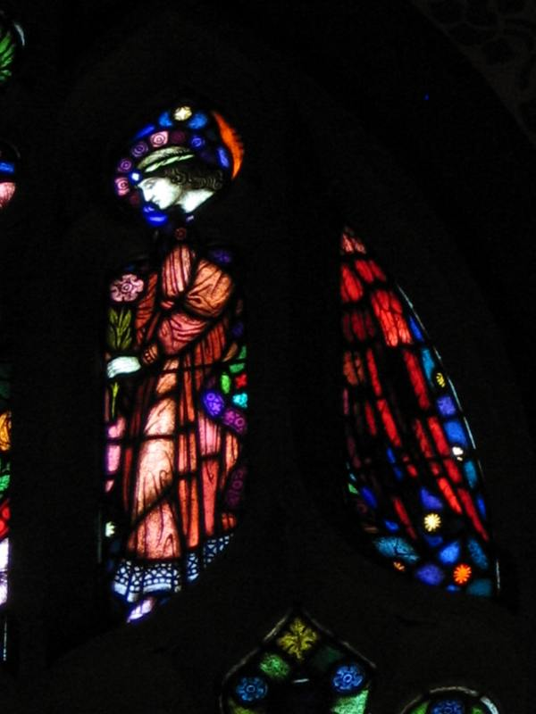 Tracery angel, transept window