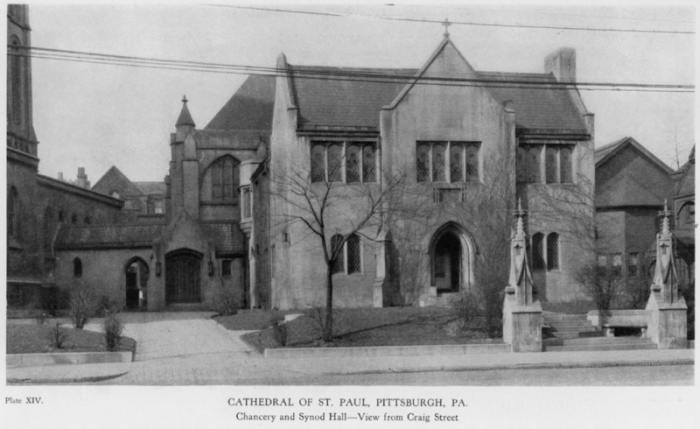 Synod Hall.  Photograph taken from Edward J. Weber, Catholic Ecclesiology (Pittsburgh 1927):  Plate XIV.