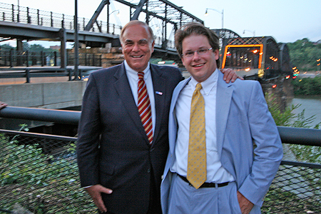 Gov. Edward Rendell and PHLF Chief Information Officer Ronald C. Yochum, Jr.