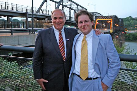 Gov. Edward Rendell and PHLF Chief Information Officer Ronald C. Yochum, Jr.