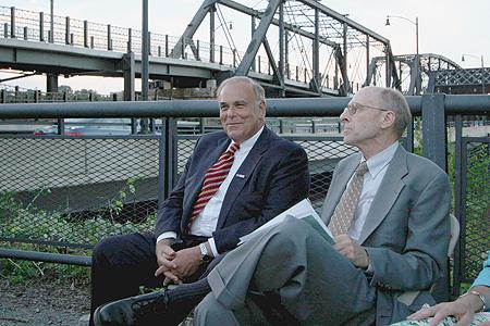 Pennsylvania Gov. Ed Rendell, PHLF President Arthur P. Ziegler, Jr.