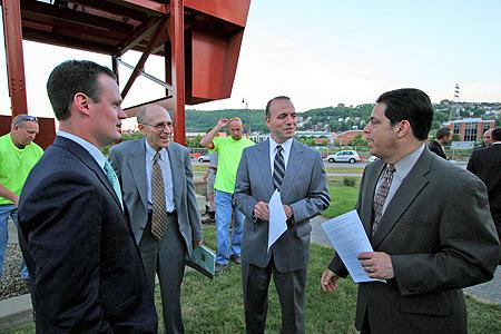 Pittsburgh Mayor Luke Ravenstahl, Arthur Ziegler, President PHLF, Allegheny County Executive Dan Onorato, Senator Jay Costa