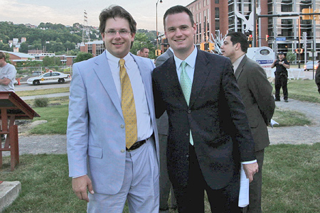 PHLF Chief Information Officer Ronald C. Yochum, Jr., Pittsburgh Mayor Luke Ravenstahl