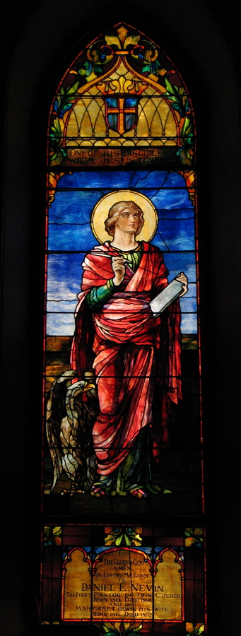 The Apostle John, c. 1897, David and Helen Maitland Armstrong, The Presbyterian Church, Sewickley
