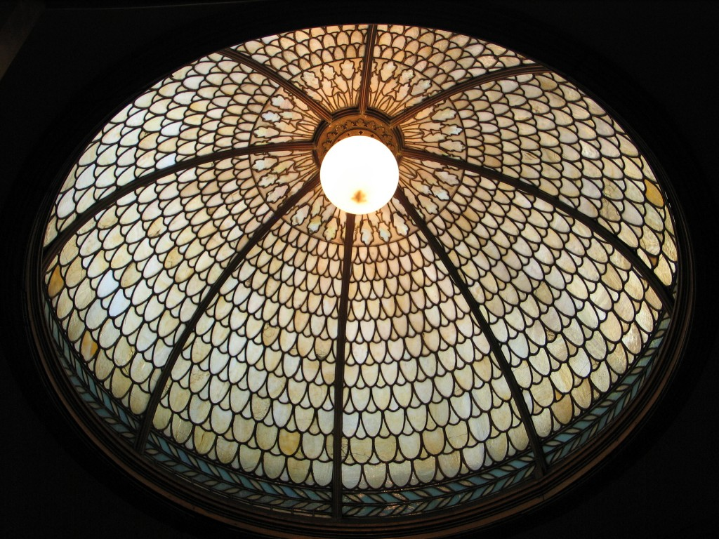 "Glass dome in H. C. Frick's bathroom, ""Clayton,"" 1897, Henry Hunt for Leake & Greene"