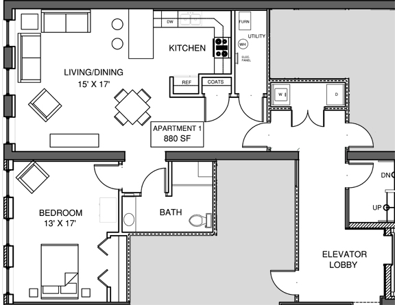 Apartment 1 Floor-plan