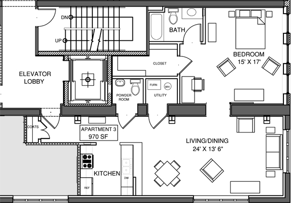 Apartment 3 Floor-plan
