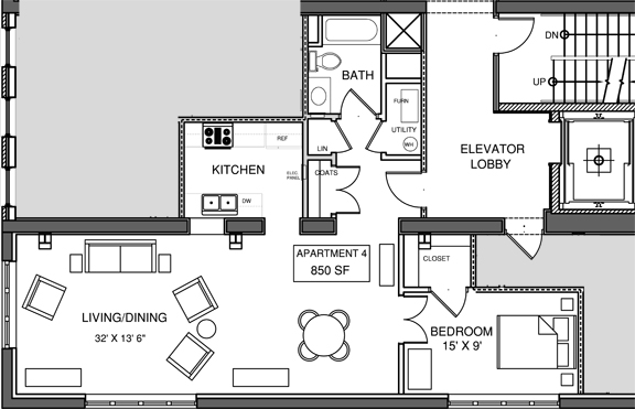 Apartment 4 Floor-plan