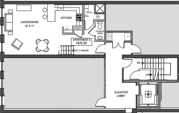 Apartment 5, Level 1 Floor-plan