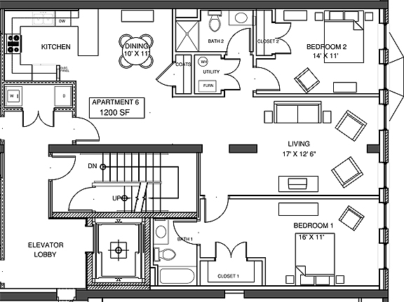 Apartment 6 Floor-plan