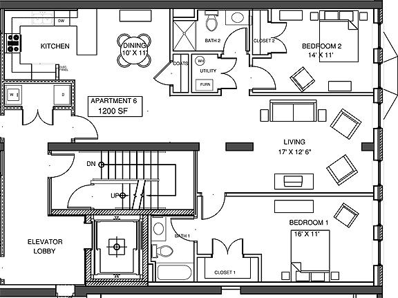 Apartment 6 Floor-plan