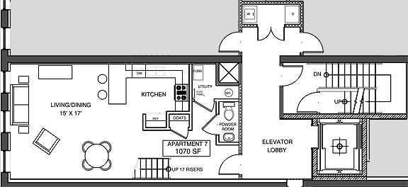 Apartment 7, Level 1 Floor-plan