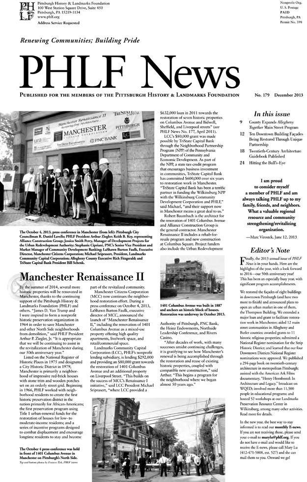 PHLF_News, No. 178, December 2013