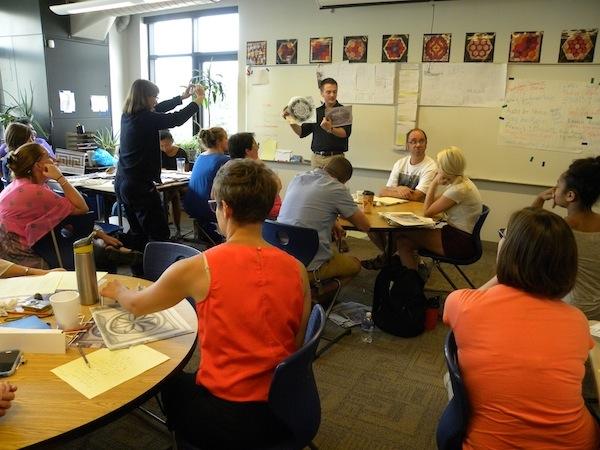 Western Pennsylvania Writers Program for teachers at Falk School, Oakland, PHLF education program, inservice