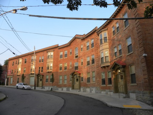 The restored Crescent Apartments building is a major part of PHLF's broad historic restoration efforts in Wilkinsburg