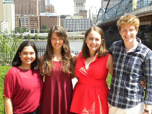 Simone D'Rosa, Sarah Collins, Molly Soffietti, and Andrew Hyatt; PHLF Summer 2015 Interns